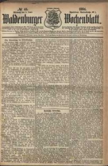 Waldenburger Wochenblatt, Jg. 30, 1884, nr 45