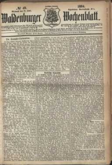 Waldenburger Wochenblatt, Jg. 30, 1884, nr 49
