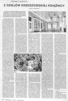 Z dziejów krzeszowskiej książnicy