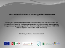 Virtuelle Bibliothek E-Grenzgebiet -Mahrwert [Dokument elektroniczny]
