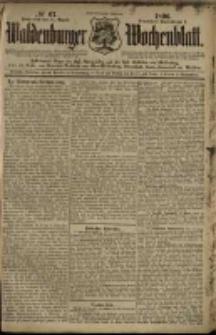 Waldenburger Wochenblatt, Jg. 42, 1896, nr 67