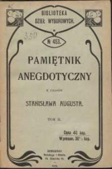 Pamiętnik anegdotyczny z czasów Stanisława Augusta. T. 2