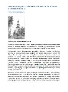 Uratowane piękno, Czyli rzecz o Kosciele pw. św. Marcina w Sobieszowie (CZ. 1). Początki Sobieszowa