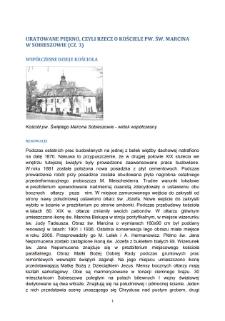 Uratowane piękno, Czyli rzecz o Kosciele pw. św. Marcina w Sobieszowie (CZ. 3). Współczesne dzieje kościoła