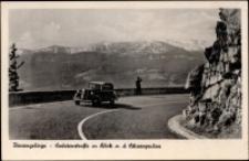 Karkonosze - zakręt śmierci i widok na Śnieżne Kotły [Dokument ikonograficzny]