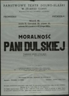 Moralność Pani Dulskiej - afisz premierowy [Dokument życia społecznego]