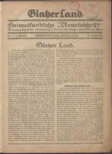 Glatzer Land, 1924, nr 1