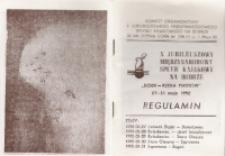 """X Jubileuszowy Międzynarodowy Spływ Kajakowy na Bobrze. """"BÓBR - RZEKA PIASTÓW"""". Regulamin [Dokument życia społeczmego]"""