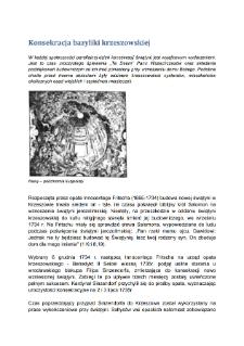 Konsekracja bazyliki krzeszowskiej