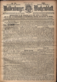 Waldenburger Wochenblatt, Jg. 47, 1901, nr 78