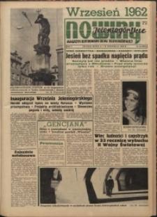 Nowiny Jeleniogórskie : magazyn ilustrowany ziemi jeleniogórskiej, R. 5, 1962, nr 36 (232)