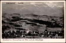 Karpniki - panorama, w tle Karkonosze ze Śnieżką [Dokument ikonograficzny]