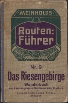 Das Riesengebirge: mit 8 Spezialkarten, 3 Textkarten und 1 Übersichtskarte in 2 Streifen