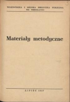 Materiały metodyczne, 1957, nr 3