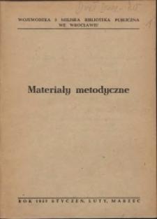 Materiały metodyczne, 1957, nr 1