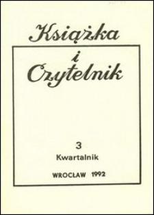 Książka i Czytelnik, 1992, nr 3