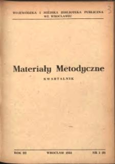 Materiały metodyczne : kwartalnik, R. III, 1958, nr 3 (9)