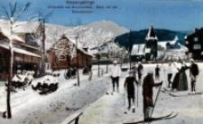 Riesengebirge. Winterbild aus Krummhübel. Blick auf die Schneekoppe [Dokument ikonograficzny]