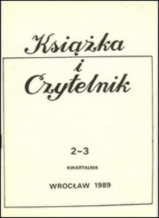 Książka i Czytelnik, 1989, nr 2/3