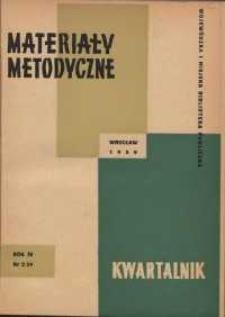Materiały metodyczne : kwartalnik, R. VI, 1959, nr 2 (12)
