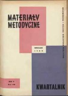 Materiały metodyczne : kwartalnik, R. V, 1960, nr 3/4 (16)