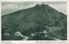 Riesengebirge. Schneekoppe mit Schlesierhaus u. Riesenbaude [Dokument ikonograficzny]