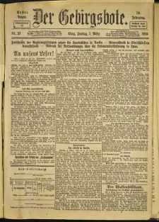 Der Gebirgsbote, 1919, nr 27 [7.03]