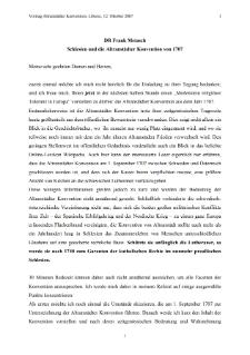 Schlesien und die Altranstädter Konvention von 1707 [Dokument elektroniczny]