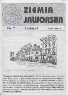 Ziemia Jaworska : miesięcznik samorządowy Ziemi Jaworskiej, 1992, nr 7