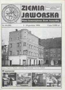 Ziemia Jaworska : pismo samorządowe Ziemi Jaworskiej, 1994, nr 15
