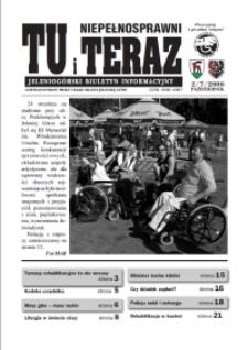 Niepełnosprawni Tu i Teraz : jeleniogórski biuletyn informacyjny niepełnosprawnych, 2006, nr 2 (7)