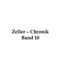 Zeller-Chronik. Bd. 10 [Dokument elektroniczny]