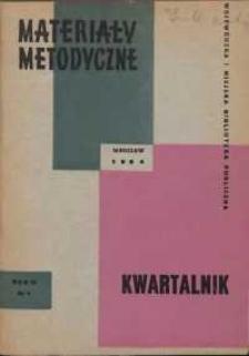 Materiały metodyczne : kwartalnik, R. IX, 1964, nr 2/3