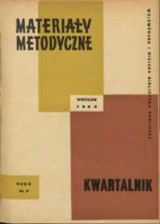 Materiały metodyczne : kwartalnik, R. X, 1965, nr 3