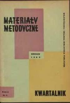 Materiały metodyczne : kwartalnik, R. X, 1965, nr 4