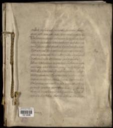 """[Kodeks pergaminowy zawierający odpisy przywilejów książęcych dla miasta śląskiego. Inc.: """"Vitate pofsident, ca nobis...""""]"""