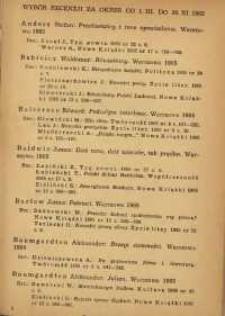 Wybór recenzji za okres 1.III-30.XI.1965