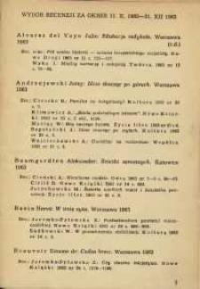 Wybór recenzji za okres 11.X.1963-31.XII.1963