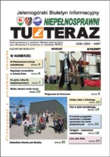 Niepełnosprawni Tu i Teraz : jeleniogórski biuletyn informacyjny niepełnosprawnych, 2007, nr 8 (18)