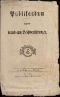 Publikandum wegen der immediaten Beschwerdeführungen. De dato Berlin, den 21. May 1799