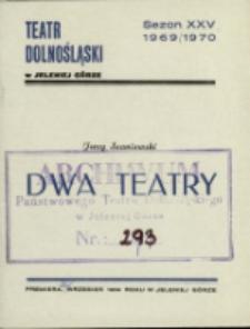 Dwa teatry - program [Dokument życia społecznego]