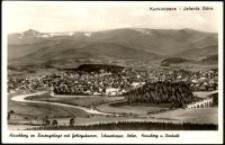Jelenia Góra - panorama miasta na tle Karkonoszy [Dokument ikonograficzny]