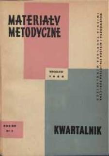 Materiały metodyczne : kwartalnik, R. XIII, 1968, nr 2