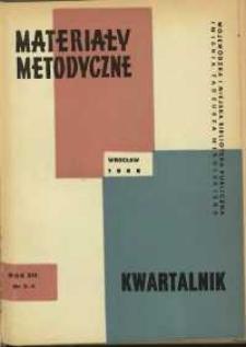 Materiały metodyczne : kwartalnik, R. XIII, 1968, nr 3-4