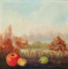 Pejzaż z jabłkami [Dokument ikonograficzny]