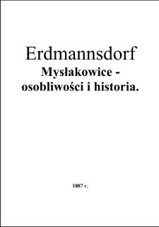 Erdmannsdorf - Mysłakowic - osobliwości i historia