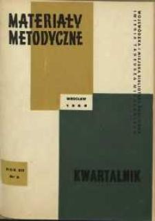 Materiały metodyczne : kwartalnik, R. XIV, 1969, nr 3