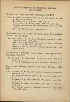 Wybór recenzji za okres 1.IV.1969-31.X.1969