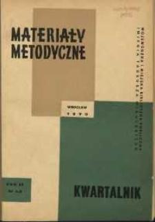 Materiały metodyczne : kwartalnik, R. XV, 1970, nr 1-2
