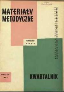 Materiały metodyczne : kwartalnik, R. XVI, 1971, nr 1